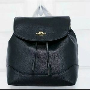 Coach Elle Black Leather Backpack